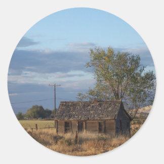 Homestead Cabin Round Sticker