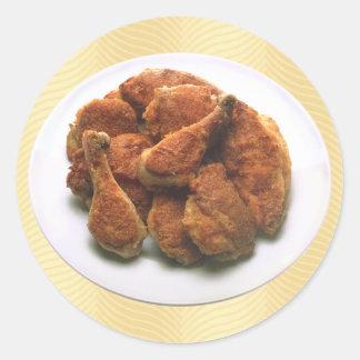 Homestyle Fried Chicken Round Sticker