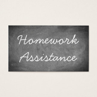 Homework Assistance Chalkboard Typography Business Card