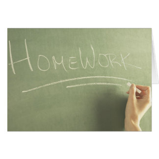 Homework Banner Card