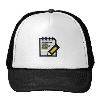 Homework Drools Summer Rules! Trucker Hat