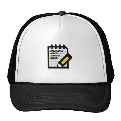 Homework Drools Summer Rules! Hat