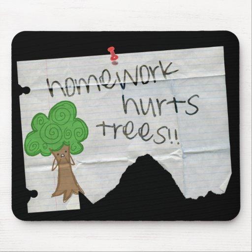 homework hurts trees