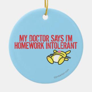 Homework Intollerant Christmas Ornament