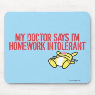 Homework Intollerant Mouse Mat