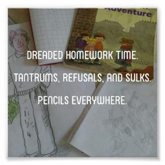 'Homework' Parenting Haiku Print Photo Print