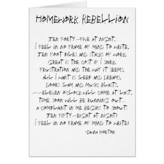 Homework Rebellion Greeting Cards