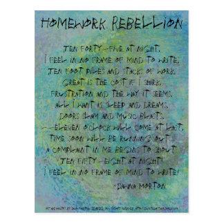 Homework Rebellion Postcards