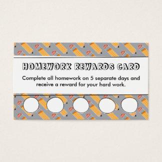 Homework Rewards Card | Teacher's Classroom Tools