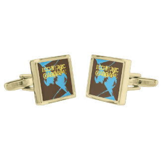 Homie Sights Gold Finish Cufflinks