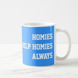 Homies Help Homies Always Basic White Mug