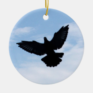 Homing Pigeon Coming Home Ornament