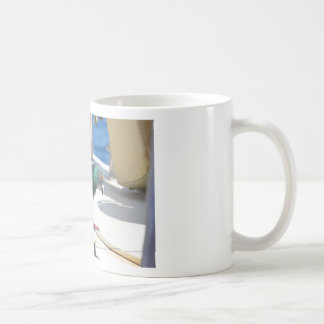 Homing Pigeon On A Yacht Coffee Mugs