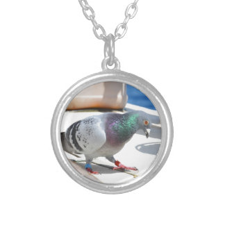 Homing Pigeon On A Yacht Custom Necklace
