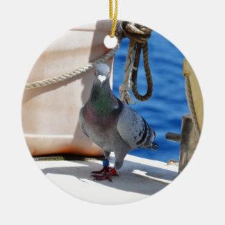 Homing Pigeon Round Ceramic Decoration