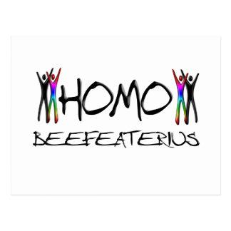 Homo beefeater postcard