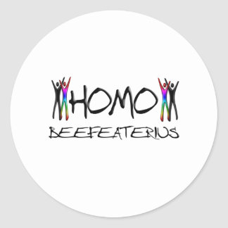 Homo beefeater round sticker