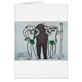 Homo erectus with two legends card
