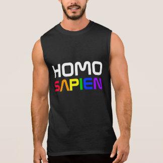 Homo Sapien Gay Pride Rainbow Sleeveless T-shirt