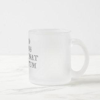 Homo Sapiens Non Urinat in Ventum Frosted Glass Mug