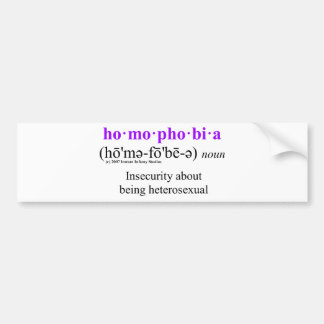homophobia bumper stickers