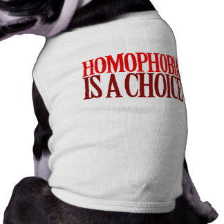 HOMOPHOBIA IS A CHOICE SHIRT