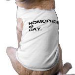 HOMOPHOBIA IS GAY SLEEVELESS DOG SHIRT