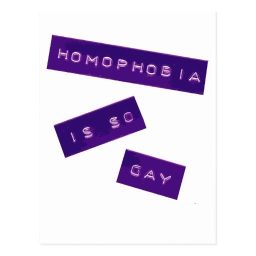 Homophobia Is So Gay II Post Cards