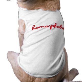 HOMOPHOBIA.png Dog Tshirt