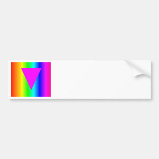Homosexual Rainbow Car Bumper Sticker