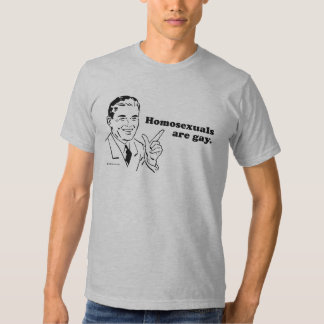HOMOSEXUALS ARE GAY T SHIRT