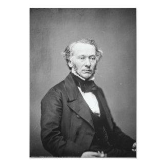 Hon. Richard Cobden M.P. Portrait c. 1865 13 Cm X 18 Cm Invitation Card
