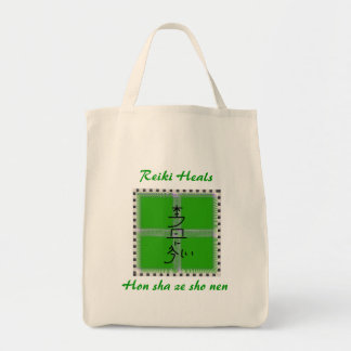 Hon sha ze sho nen green mandala canvas bag