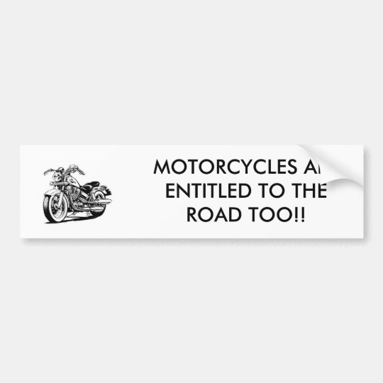 honda_cartoon, MOTORCYCLES ARE ENTITLED TO THE ... Bumper Sticker