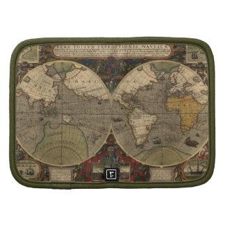 Hondius Old World Map Vintage Art Folio Planners