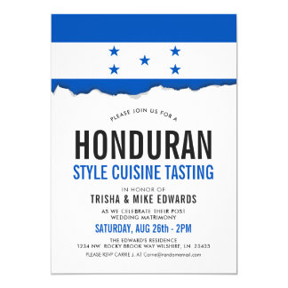 Honduran Cuisine | Party Flag White Invite