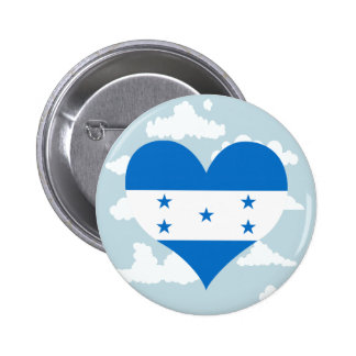 Honduran Flag on a cloudy background 2 Inch Round Button