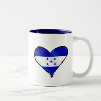 Honduran Love - I Love Honduras flag gifts Two-Tone Coffee Mug