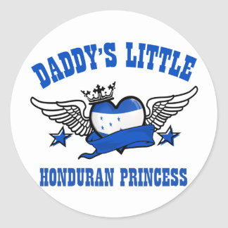 Honduran Princess Classic Round Sticker