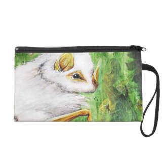 Honduran White Bat, Nature Collage Wristlet