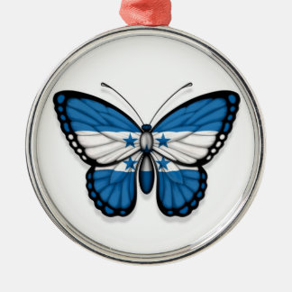 Honduras Butterfly Flag Christmas Ornament