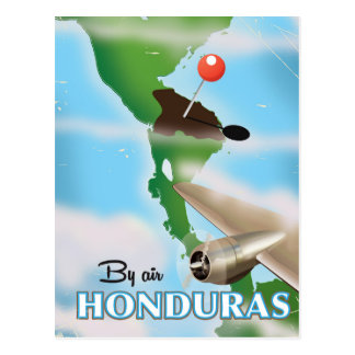 Honduras By air vintage travel poster Postcard