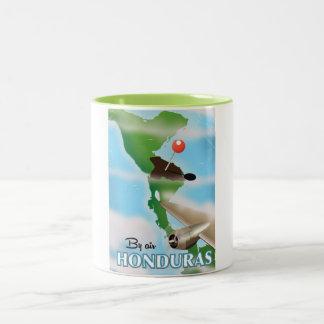 Honduras By air vintage travel poster Two-Tone Coffee Mug