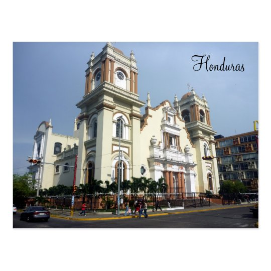 honduras cathedral postcard