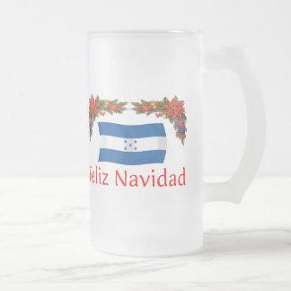 Honduras Christmas Frosted Glass Beer Mug