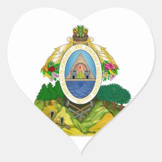 Honduras Coat of arms HN Heart Sticker