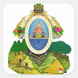 Honduras Coat of arms HN Square Sticker
