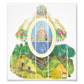Honduras Coat Of Arms Photo Art