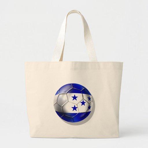 Honduras flag 5 star soccer ball futbol fans gifts tote bags