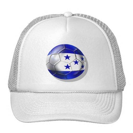 Honduras flag 5 star soccer ball futbol fans gifts mesh hats